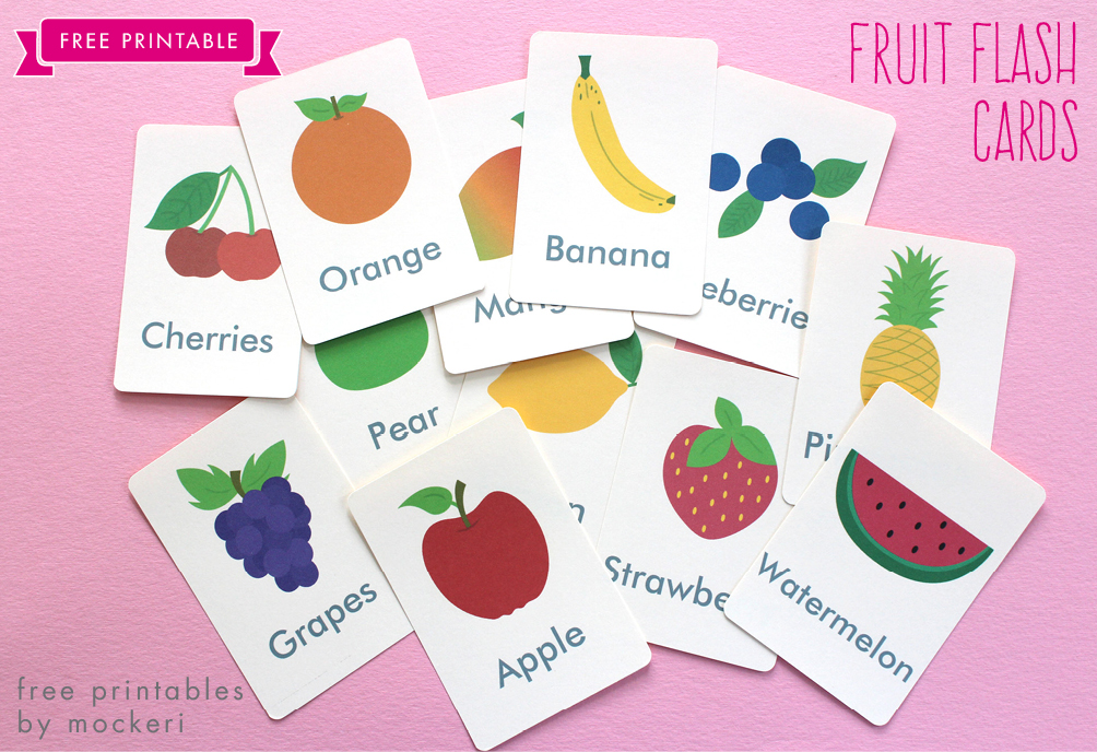 graphic about Printable Fruit Pictures known as Totally free Printable: Fruit Flash Playing cards and Matching Playing cards