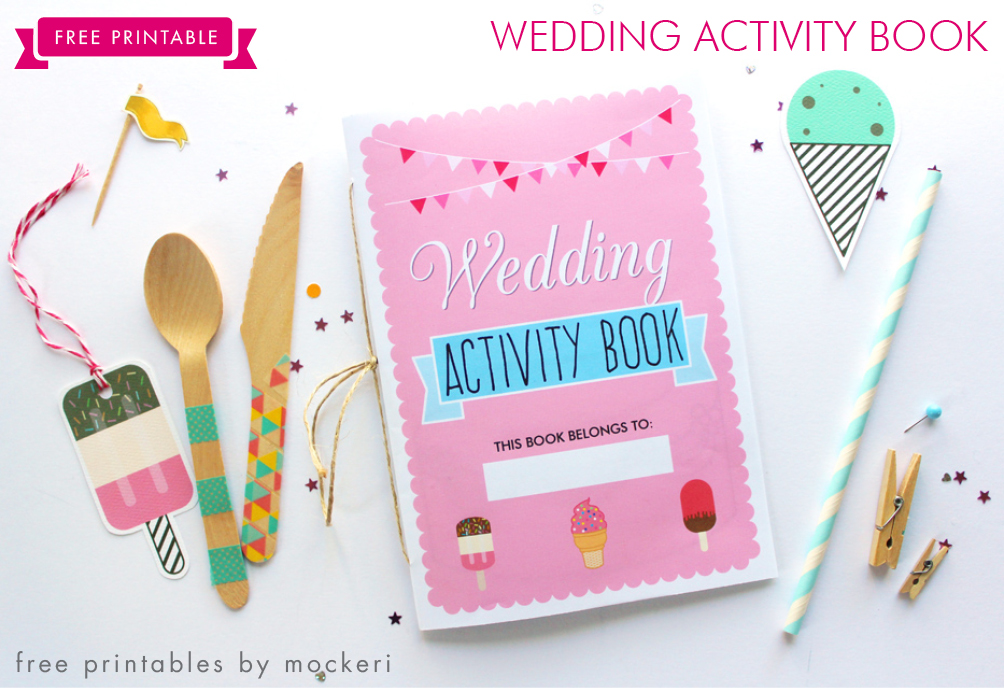 free printable wedding activity book - Kids Activity Book Printable