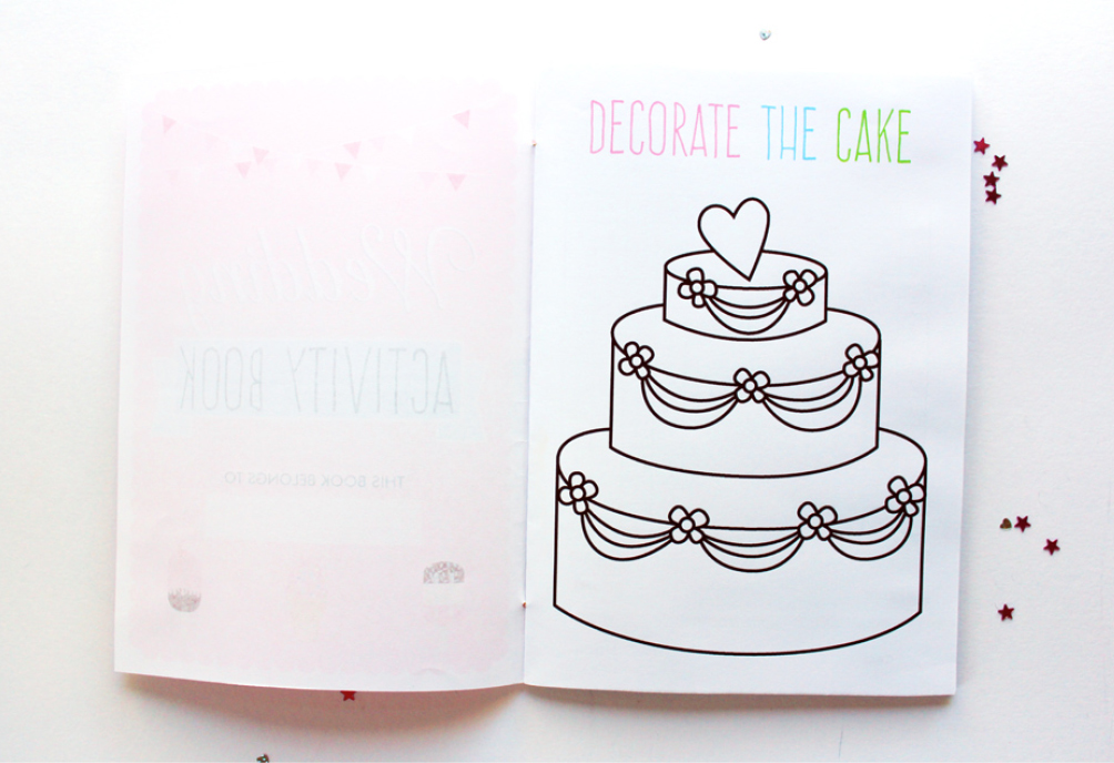 Amazing image inside printable wedding activity book
