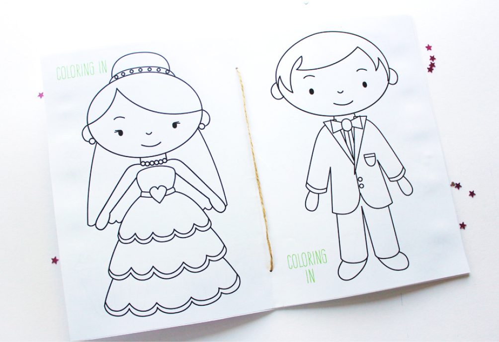 photograph relating to Printable Wedding Coloring Books referred to as Free of charge Printable: Wedding day Match Ebook