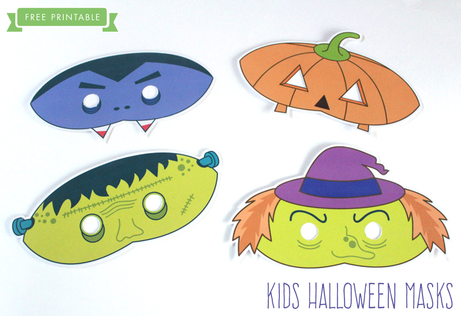 image regarding Free Printable Halloween Masks named Totally free Printable: Halloween Little ones Masks
