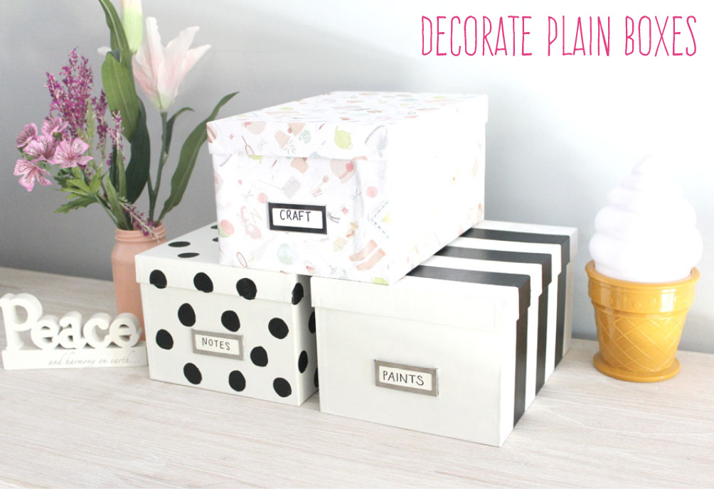 diy decorated storage boxes. Decorating Plain Boxes Diy Decorated Storage