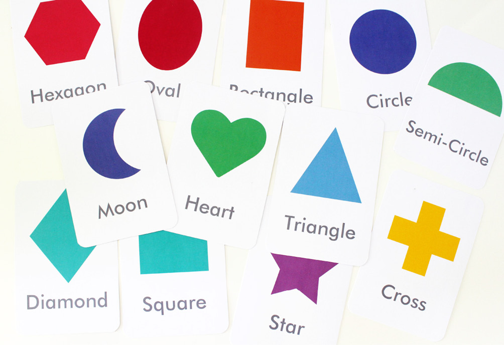 Free Printable: Shapes And Colours Flash Cards