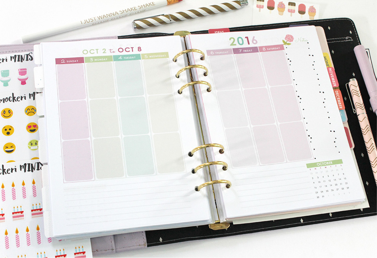 At the end of the Daily Planner is a 2016 Savings Log page and a quote ...