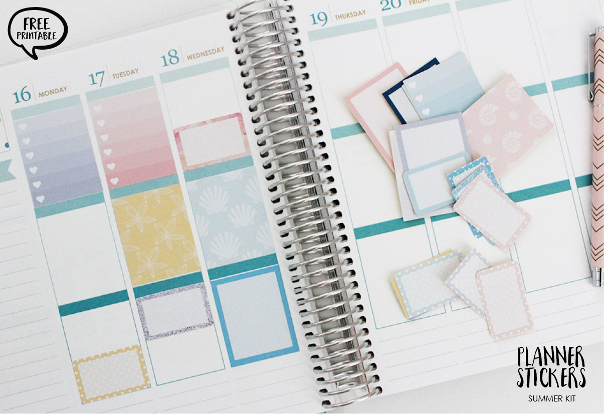 free printable planner stickers summer kit