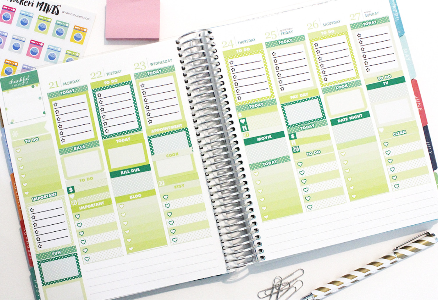 New Printable Planner Stickers! AND MORE!