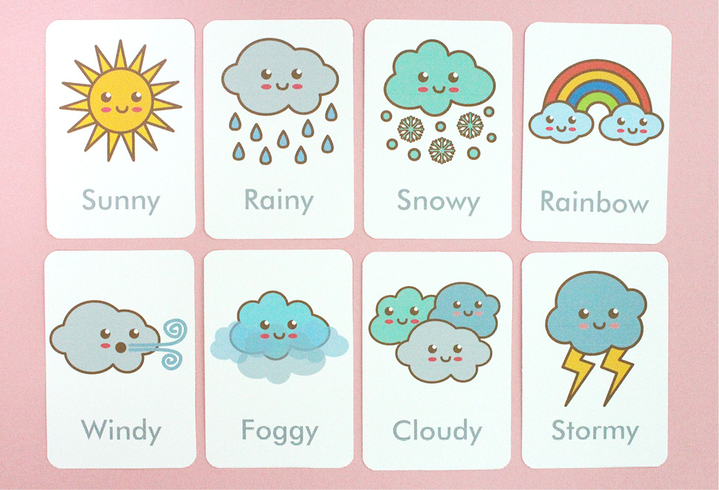 Weather Vocabulary Flashcards | Apps Directories